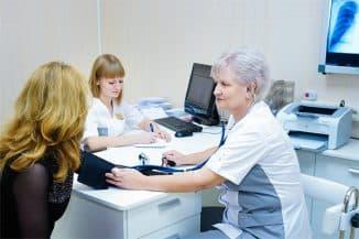 приём у врача в поликлинике