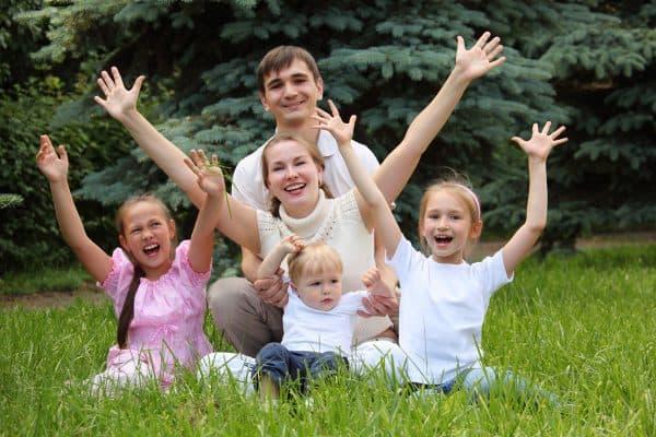 дети многодетной семьи